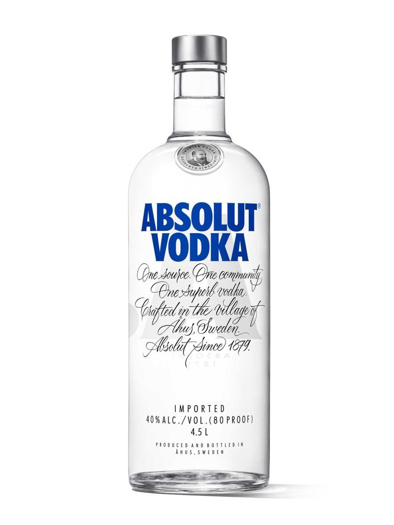 Absolut Vodka Sweden Original 4.5L