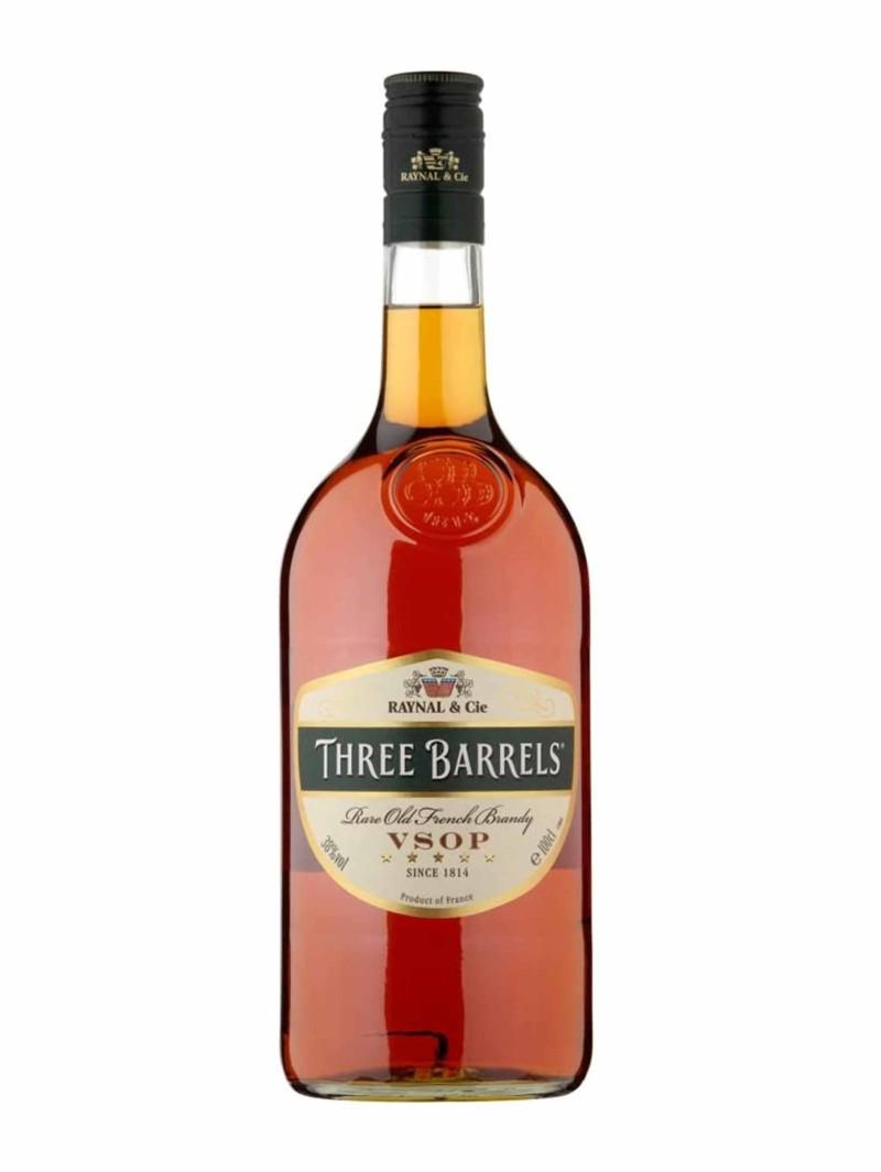 Three Barrels VSOP Brandy 1L
